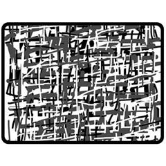 Gray pattern Fleece Blanket (Large)