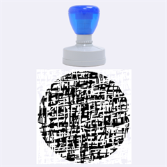 Gray pattern Rubber Round Stamps (Large)