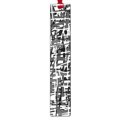 Gray pattern Large Book Marks