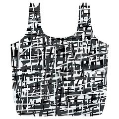 Gray pattern Full Print Recycle Bags (L)