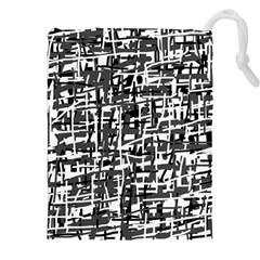 Gray pattern Drawstring Pouches (XXL)