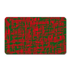 Green and red pattern Magnet (Rectangular)