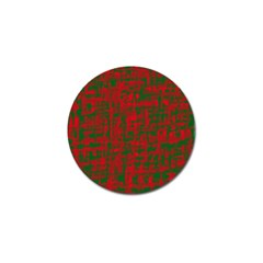 Green and red pattern Golf Ball Marker (10 pack)