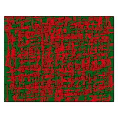 Green and red pattern Rectangular Jigsaw Puzzl