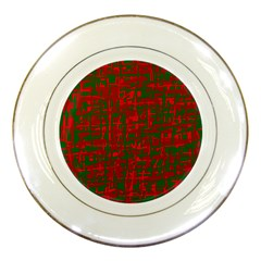 Green and red pattern Porcelain Plates