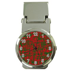 Green and red pattern Money Clip Watches