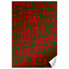 Green and red pattern Canvas 12  x 18