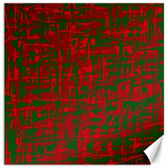 Green and red pattern Canvas 20  x 20