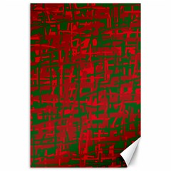 Green and red pattern Canvas 24  x 36