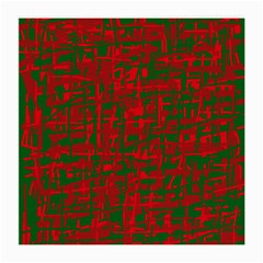 Green and red pattern Medium Glasses Cloth (2-Side)