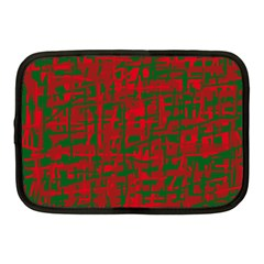 Green and red pattern Netbook Case (Medium)