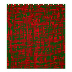 Green and red pattern Shower Curtain 66  x 72  (Large)