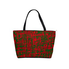 Green and red pattern Shoulder Handbags