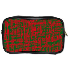 Green and red pattern Toiletries Bags
