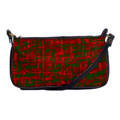Green and red pattern Shoulder Clutch Bags