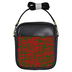 Green and red pattern Girls Sling Bags
