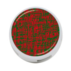 Green and red pattern 4-Port USB Hub (Two Sides)