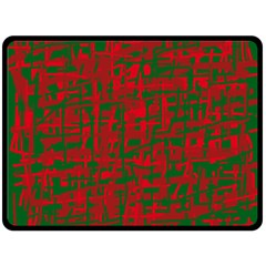 Green and red pattern Fleece Blanket (Large)