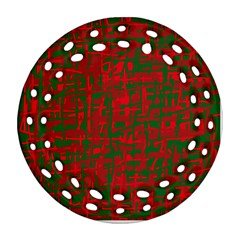 Green and red pattern Ornament (Round Filigree)