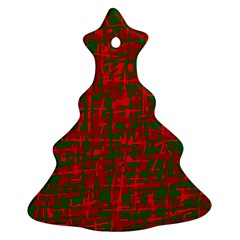 Green and red pattern Ornament (Christmas Tree)