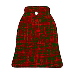 Green and red pattern Bell Ornament (2 Sides)