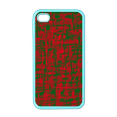 Green and red pattern Apple iPhone 4 Case (Color)