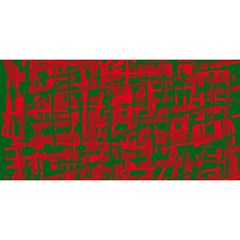 Green and red pattern YOU ARE INVITED 3D Greeting Card (8x4)