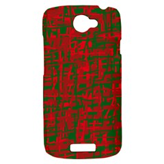 Green and red pattern HTC One S Hardshell Case