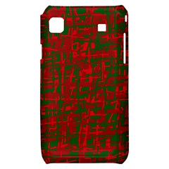 Green and red pattern Samsung Galaxy S i9000 Hardshell Case