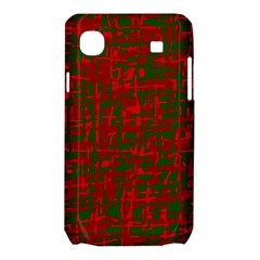 Green and red pattern Samsung Galaxy SL i9003 Hardshell Case