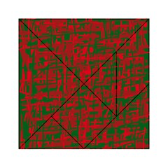 Green And Red Pattern Acrylic Tangram Puzzle (6  X 6 )