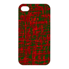 Green and red pattern Apple iPhone 4/4S Premium Hardshell Case