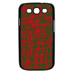 Green and red pattern Samsung Galaxy S III Case (Black)