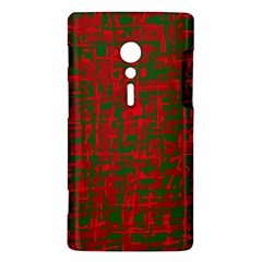 Green and red pattern Sony Xperia ion