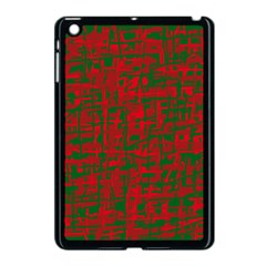 Green and red pattern Apple iPad Mini Case (Black)
