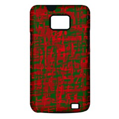 Green and red pattern Samsung Galaxy S II i9100 Hardshell Case (PC+Silicone)