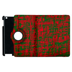 Green and red pattern Apple iPad 2 Flip 360 Case