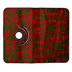 Green and red pattern Samsung Galaxy Note II Flip 360 Case
