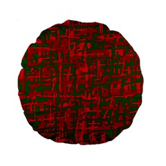 Green And Red Pattern Standard 15  Premium Round Cushions