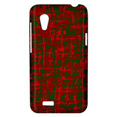 Green and red pattern HTC Desire VT (T328T) Hardshell Case