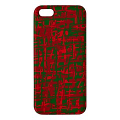 Green and red pattern Apple iPhone 5 Premium Hardshell Case