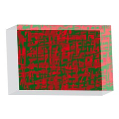 Green and red pattern 4 x 6  Acrylic Photo Blocks