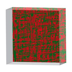 Green and red pattern 5  x 5  Acrylic Photo Blocks