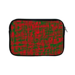 Green and red pattern Apple iPad Mini Zipper Cases