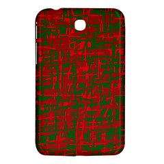 Green and red pattern Samsung Galaxy Tab 3 (7 ) P3200 Hardshell Case