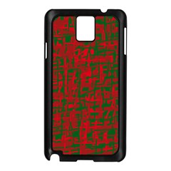 Green and red pattern Samsung Galaxy Note 3 N9005 Case (Black)