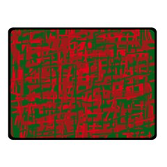 Green and red pattern Double Sided Fleece Blanket (Small)