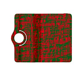 Green and red pattern Kindle Fire HDX 8.9  Flip 360 Case