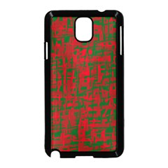 Green and red pattern Samsung Galaxy Note 3 Neo Hardshell Case (Black)