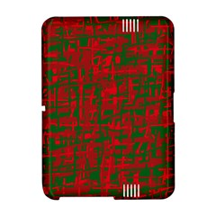 Green and red pattern Amazon Kindle Fire (2012) Hardshell Case